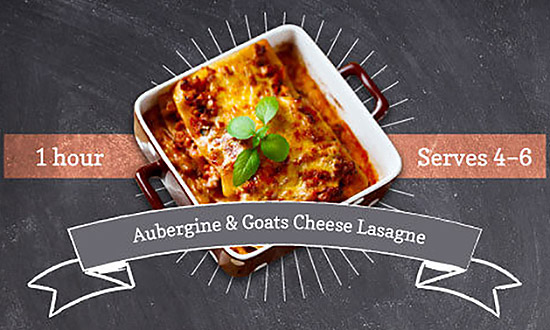 Aubergine & Goats Cheese Lasagne
