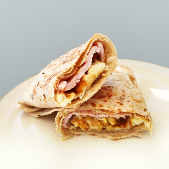 Egg and Turkey Bacon Low Carb Wrap