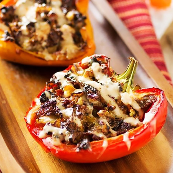 Baked Crispy Stuffed Peppers