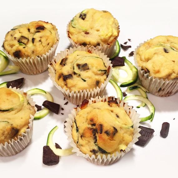 Protein Zucchini Chocolate Muffins