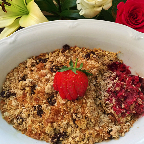 Dark Chocolate & Raspberry Protein Crumble