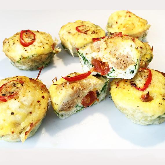 Chicken chilli cheese muffins