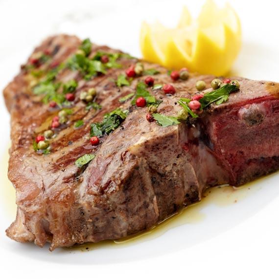 Veal T Bone Steak with Salsa