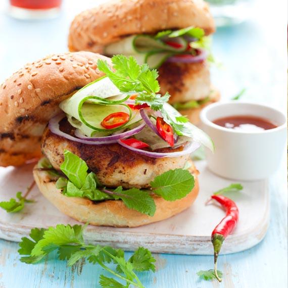 Turkey Burgers & Beetroot Relish
