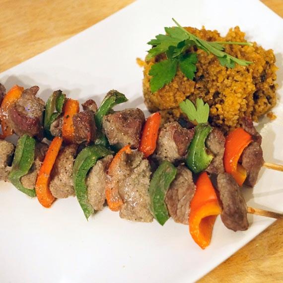 Lean Beef Kebabs