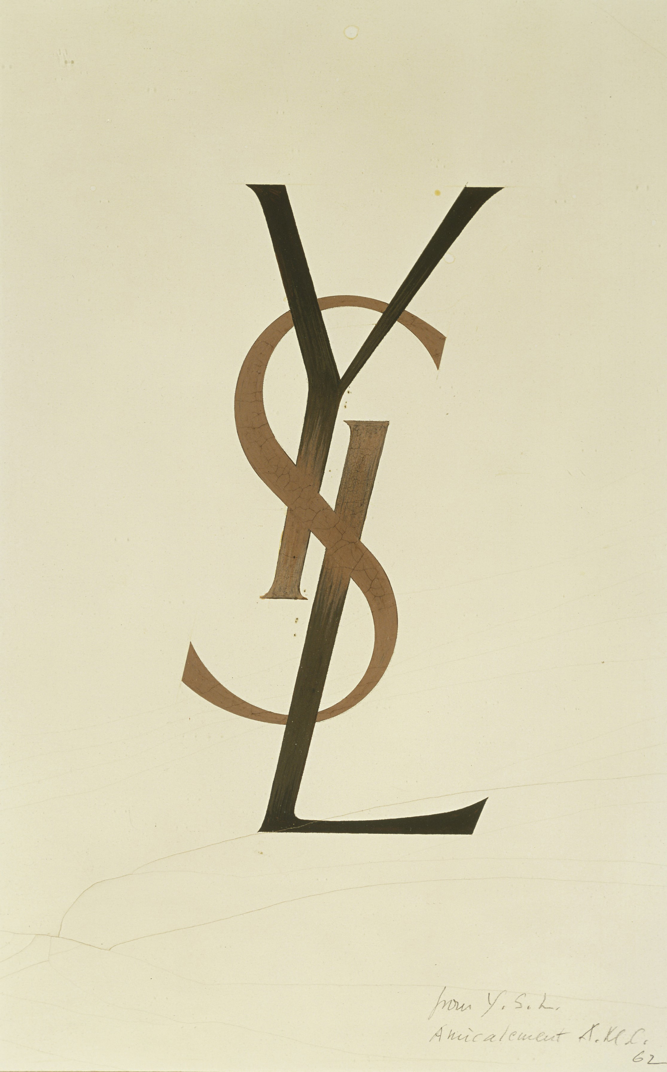 a logo designed by cassandre musée yves saint laurent paris