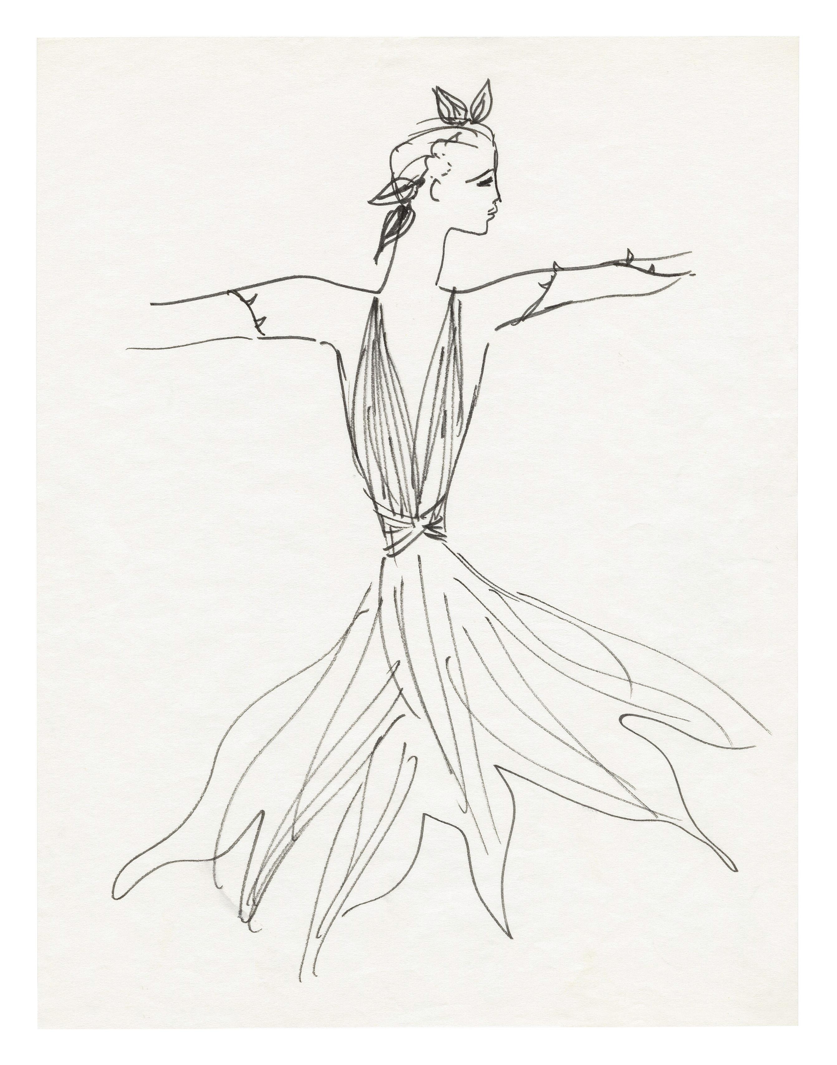 Coloring book yves saint laurent -  For The Ballet La Rose Malade The Sick Rose Directed By Roland Petit At The Palais Des Sports De Paris In 1973 Mus E Yves Saint Laurent Paris