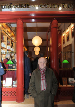 Pierre Bergé at the reopening of the Librairie des colonnes, Tangier, December 16, 2010. Photograph by Abdelhak Senna., © Abdelhak Senna