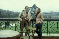 "Yves Saint Laurent and Pierre Bergé at """"Château Gabriel,"""" Bénerville-sur-Mer, 1982. Photograph by Guy Marineau., © Musée Yves Saint Laurent Paris / Guy Marineau"