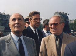 François Mitterrand and Pierre Bergé in the 1980s., © Droits Réservés