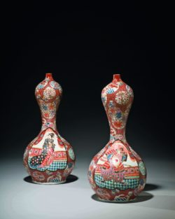 Pair of double-gourd vases, Japan, late nineteenth-early twentieth centuries, former collection of Yves Saint Laurent and Pierre Bergé, © Christie's France