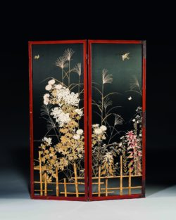 Two-panel folding screen, Japan, former collection of Yves Saint Laurent and Pierre Bergé, © Christie's France