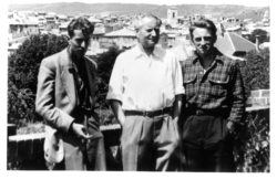 Bernard Buffet, Jean Giono, and Pierre Bergé, Manosque, June 16, 1950., © Droits réservés