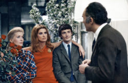 Catherine Deneuve, habillée par Yves Saint Laurent, et Michel Piccoli dans le film La Chamade d'Alain Cavalier, 1968., © Collection CSFF /Bridgeman Images