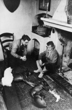 Pierre Bergé et Bernard Buffet, Nanse, 1952. Photographie de Dimitri Kessel., © Dimitri Kessel - DR