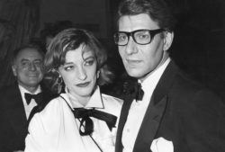Pierre Bergé, Loulou de La Falaise, and Yves Saint Laurent during a party at the Palace, Paris, March 1981. Photograph by Guy Marineau., © Musée Yves Saint Laurent Paris / Guy Marineau