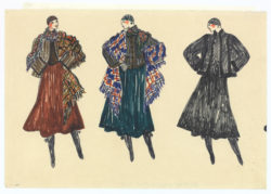 "Research sketch. Autumn-winter 1976 haute couture collection, known as the ""Opéra-Ballets russes"" collection., © Musée Yves Saint Laurent Paris"