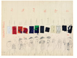Planche de collection « Ensembles habillés ». Collection haute couture printemps-été 1962, © Musée Yves Saint Laurent Paris