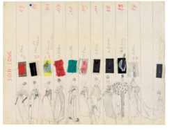 """Long Eveningwear"" collection board. Autumn-winter 1962 haute couture collection., © Musée Yves Saint Laurent Paris"
