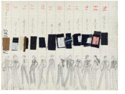 Planche de collection « Pantalons ». Collection haute couture printemps-été 1967, © Musée Yves Saint Laurent Paris