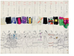 Collection board. Spring-summer 1977 haute couture collection., © Musée Yves Saint Laurent Paris