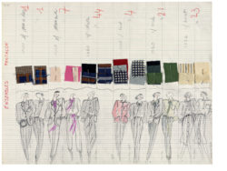Planche de collection « Ensembles Pantalon ». Collection haute couture printemps-été 1978., © Musée Yves Saint Laurent Paris