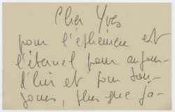Letter from Catherine Deneuve to Yves Saint Laurent., © Musée Yves Saint Laurent Paris