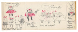 Original storyboard for La Vilaine Lulu, entitled Lulu coiffeur, storyboard 1/3, 1956., © Musée Yves Saint Laurent Paris