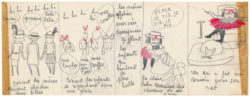 Original storyboard for La Vilaine Lulu, entitled Lulu coiffeur, storyboard 3/3, 1956., © Musée Yves Saint Laurent Paris