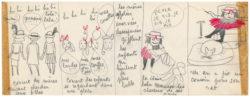 Planche originale de La Vilaine Lulu, intitulée Lulu coiffeur, planche 3/3, 1956., © Musée Yves Saint Laurent Paris