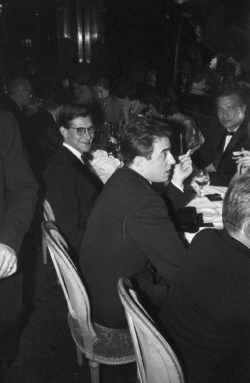 Yves Saint Laurent and Pierre Bergé at a party, Maxim's restaurant, Paris, November 28, 1958. Photograph by Jean Tesseyre., © Jean TESSEYRE/PARISMATCH/SCOOP