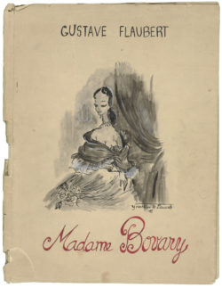 Childhood book, Madame Bovary, based on the novel by Gustave Flaubert, 1951., © Musée Yves Saint Laurent Paris
