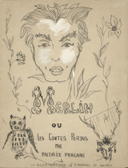 Childhood book, Merlin, based on the book Merlin ou les contes perdus by André Pragane, 1950., © Musée Yves Saint Laurent Paris
