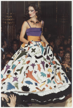 Evening gown inspired by Henri Matisse at the fashion show for the spring-summer 1982 haute couture collection, Salon impérial of the Hôtel Inter-Continental, Paris, January 1982., © Droits Réservés