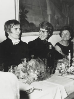 Rudolf Nureyev and Yves Saint Laurent at a party, Paris, 1966. Photograph by André Ostier., © Les ayants droit d'André Ostier