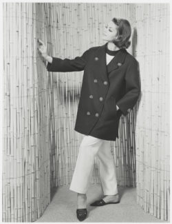 First pea coat. Spring-summer 1962 haute couture collection. Photograph by the Séeberger brothers., © Frères Séeberger
