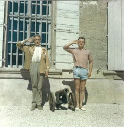 Jean Cocteau and Pierre Bergé in the 1950s. Photograph by Édouard Dermit., © Edouard Dermit
