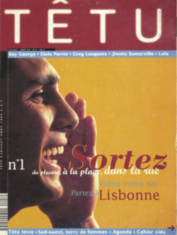 Front page for the first issue of Têtu, July 1995., © Têtu