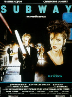 Christophe Lambert and Isabelle Adjani in the poster for the film Subway by Luc Besson, 1985., © Bridgeman Images