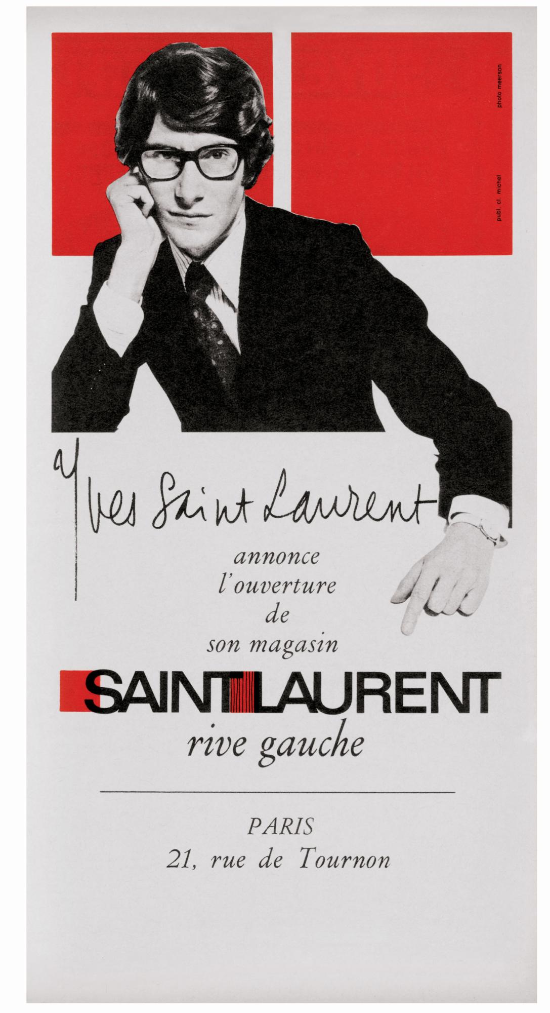 cc02bd66b45 SAINT LAURENT rive gauche - Musée Yves Saint Laurent Paris