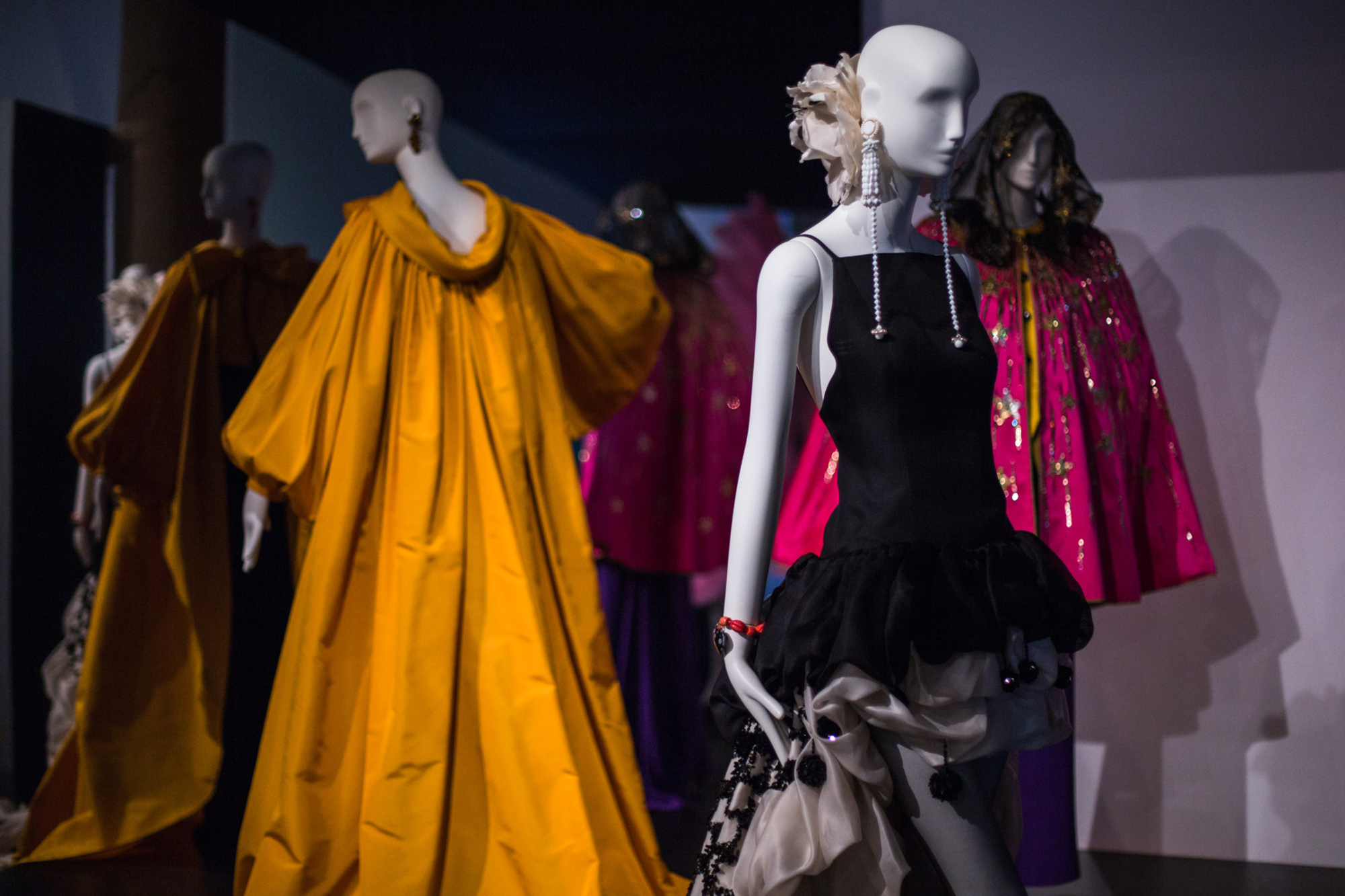 ba5584e56ac Yves Saint Laurent, Style is Eternal exhibition display at the Bowes Museum  in Durham