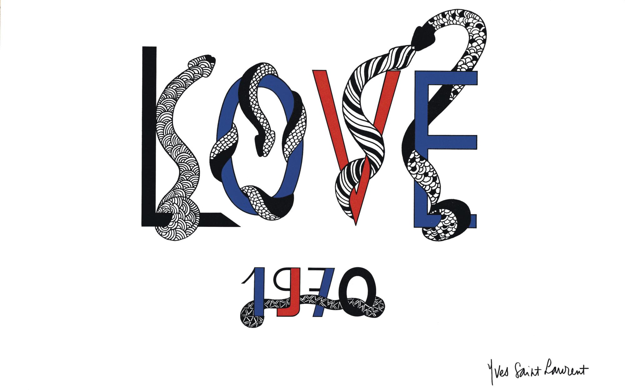 80d06c20f3c75 The First LOVE cards - Musée Yves Saint Laurent Paris