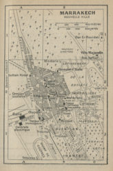 Map of Marrakech in 1930, Guide bleu Maroc, Fonds Hachette, 1930.