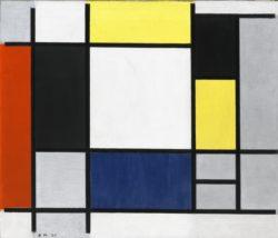 Piet Mondrian, Composition avec Jaune, Rouge, Noir, Bleu et Gris, 1920, © Collection Stedelijk Museum Amsterdam