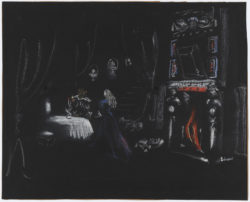 Christian Bérard, set for the fireplace in the film La Belle et la Bête (Beauty and the Beast), directed by Jean Cocteau, gouache on paper, 1946, Musée Yves Saint Laurent Paris, © Adagp, Paris, 2018