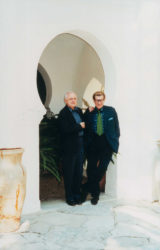 Pierre Bergé and Yves Saint Laurent at the Villa Mabrouka, Tangier, 1990s., © Droits Réservés