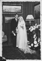 Charles et Lucienne Mathieu-Saint-Laurent le jour de leur mariage, 5 juillet 1935, © Droits réservés