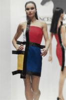 Robe d'inspiration Mondrian, collection Francesco Maria Bandini printemps-été 1991