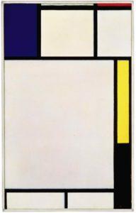 Piet Mondrian, Composition avec bleu, rouge, jaune et noir, 1922, © Christie's Images