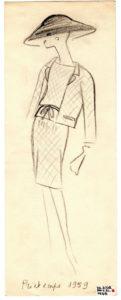 'Joli Cœur', Spring-Summer 1959 haute couture collection., © Musée Yves Saint Laurent Paris